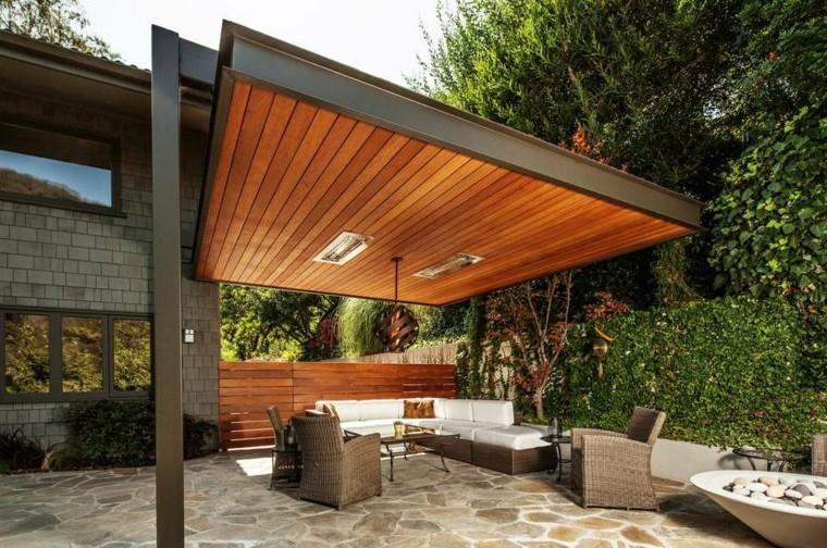 Ideas de pérgolas en hierro y madera para terrazas